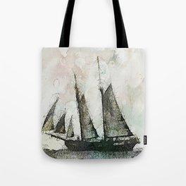 Schooner - vintage art Tote Bag