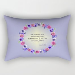 Flower Ring - Isaiah 40:8 Rectangular Pillow