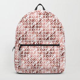 XOXO Kiss Me Rose Gold Pattern 2 Backpack