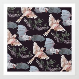 Release the Bats Art Print