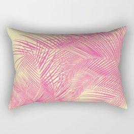 Palm Leaves, Pink Rectangular Pillow