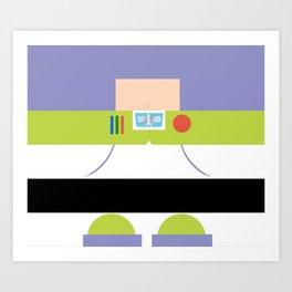 Buzz Lightyear Minimalist Art Print