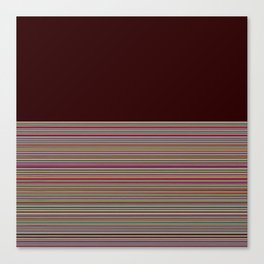 Re-Created  Color Field and Stripes 2 by Robert S. Lee Canvas Print