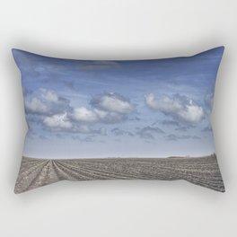 Farm Furrows in a Texas Field Rectangular Pillow