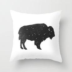 Mystic Buffalo  Throw Pillow