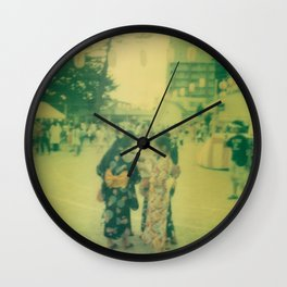 Matsuri girls Wall Clock