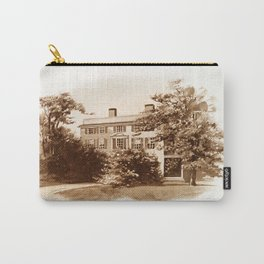 Vintage Sketched House in Sepia Carry-All Pouch