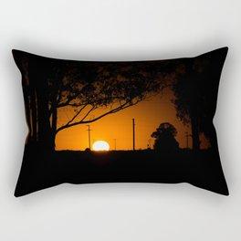 Pampas Sunset. Rectangular Pillow