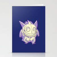 gengar Stationery Cards featuring Pocket Man Anatomy #94 Gengar by jazzmoth