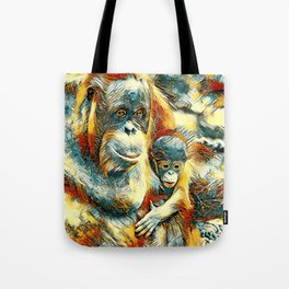 AnimalArt_OrangUtan_20170910_by_JAMColorsSpecial Tote Bag