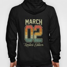Vintage 18th Birthday March 2002 Sports Gift Hoody