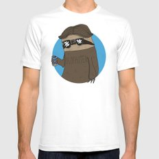 Slothster MEDIUM White Mens Fitted Tee