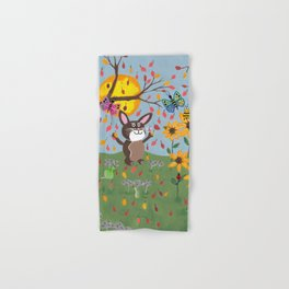 Autumn Bunny Hand & Bath Towel