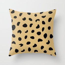Leopard Print - Warm Neutral Throw Pillow
