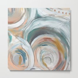 Abstract chic - cirlces and dots Metal Print