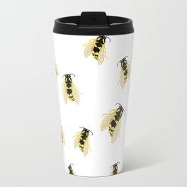 Hand Painted Watercolor Bees Travel Mug
