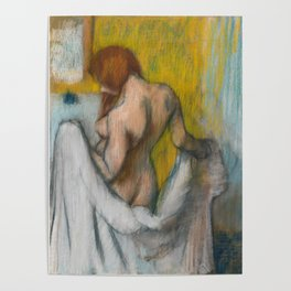 Woman with a Towel by Edgar Degas Poster