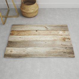 Rustic Barn Board Wood Plank Texture Rug