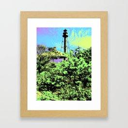 Sanibel Lighthouse I - Blacklight Poster Framed Art Print