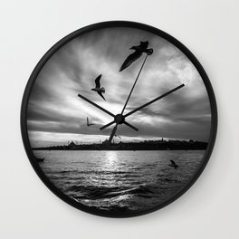 Istanbul : A Fusion of Black and White Wall Clock