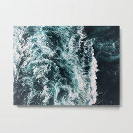 Green Seas, Yes Please Metal Print
