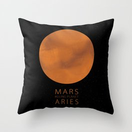 Aries - Ruling Planet Mars Throw Pillow