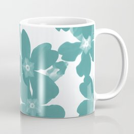 Floral Teal Coffee Mug