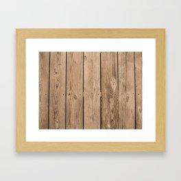 Wood I Framed Art Print