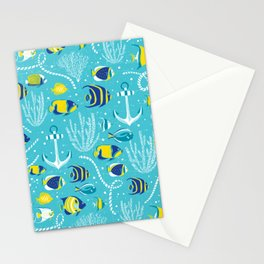 Deep Blue Sea Aqua Stationery Cards