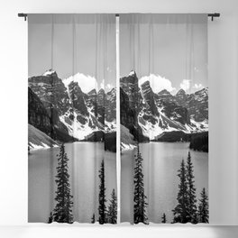 Moraine Lake   Black and White   Landscape Photography   Wildernest Blackout Curtain