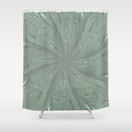 Lost in the Laurels Fractal Bloom Shower Curtain