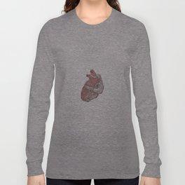 Human heart illustration - Pencil & Watercolor Long Sleeve T-shirt