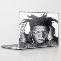 basquiat Laptop & iPad Skins featuring Jean-Michel Basquiat Drawing by Wega13Art