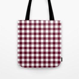 Gingham Bordeaux Tote Bag