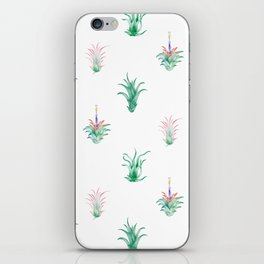 Watercolor Tilandsia Airplant White iPhone Skin