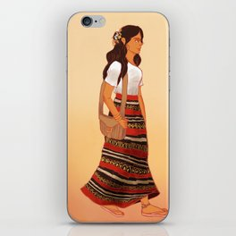 Maldivian Girl iPhone Skin