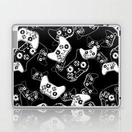 Video Game White on Black Laptop & iPad Skin