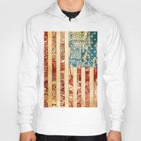 usa Hoodies featuring USA by Bekim ART