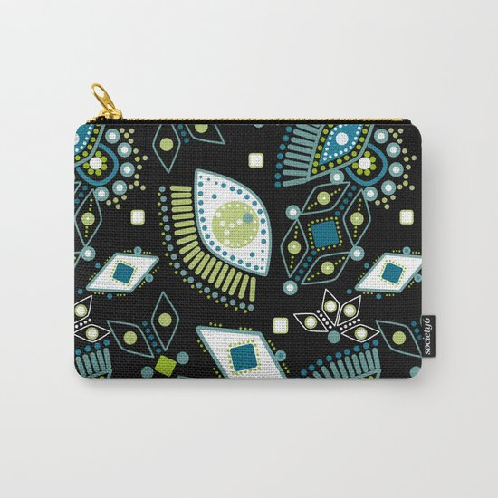 Ethnic pattern . Eyes . Carry-All Pouch