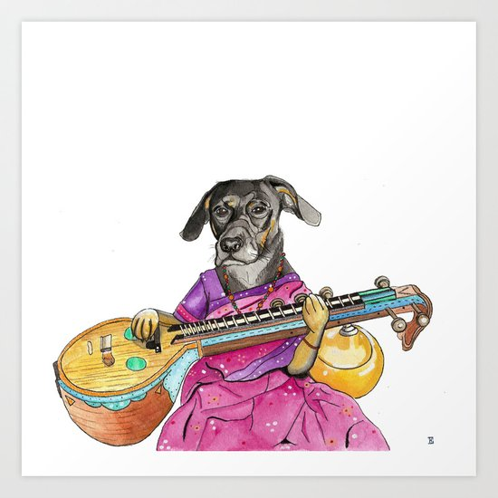 Veena Dog. this was a commission.  Art Print