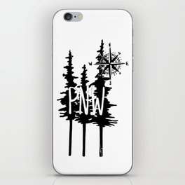 PNW Trees & Compass iPhone Skin