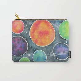 Watercolor Space Illustration Carry-All Pouch