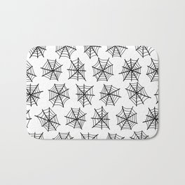 Black Webs Bath Mat
