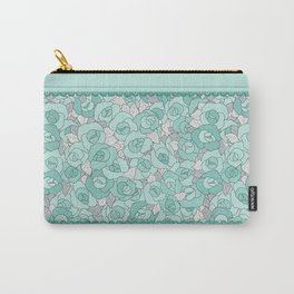 Retro Roses with lace Carry-All Pouch