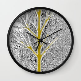Let it snow! Tree in a beautiful winter snowy day Wall Clock
