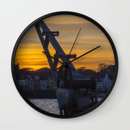 Donaghadee Crane - Sunset Wall Clock