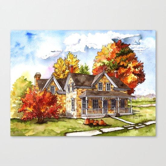 October on the Farm Canvas Print