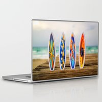 surfboard Laptop & iPad Skins featuring Surfboard by Leonardo Vega