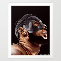 lebron Art Prints featuring THE KING by THEMAD3
