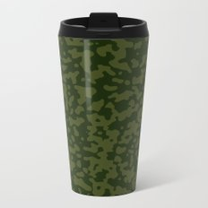 Comp Camouflage / Green Metal Travel Mug